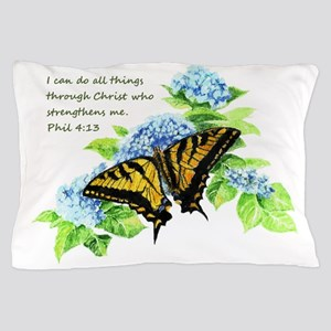 Motivational Scripture Butterfly Hydrengea Flower