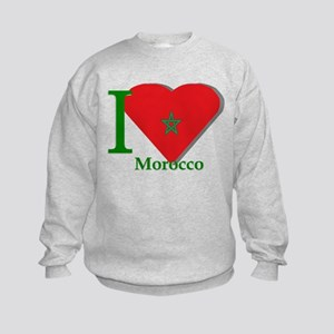I love Morocco Kids Sweatshirt