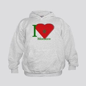 I love Morocco Kids Hoodie