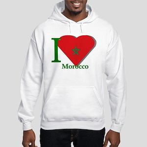 I love Morocco Hooded Sweatshirt