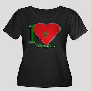 I love Morocco Women's Plus Size Scoop Neck Dark T