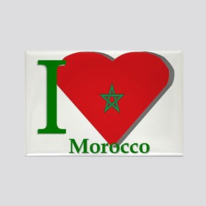 I love Morocco Rectangle Magnet