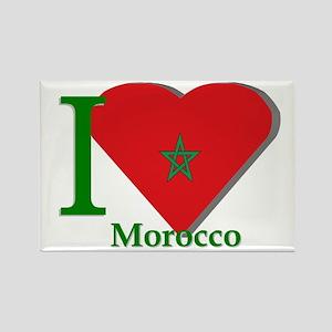 I love Morocco Rectangle Magnet