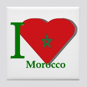 I love Morocco Tile Coaster