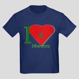 I love Morocco Kids Dark T-Shirt
