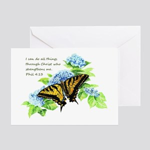 Motivational Scripture Butterfly Greeting Cards