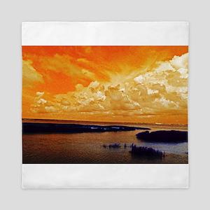 Orange Sky Queen Duvet