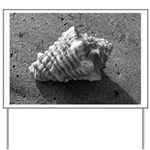Conch Shell (Black and White) Yard Sign