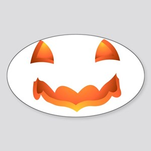 Jack-o-lantern Halloween Pumpkin Art Sticker