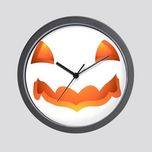 Jack-o-lantern Halloween Pumpkin Art Wall Clock