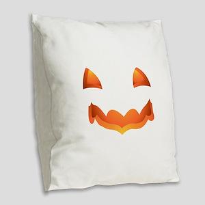 Jack-o-lantern Halloween Pumpk Burlap Throw Pillow