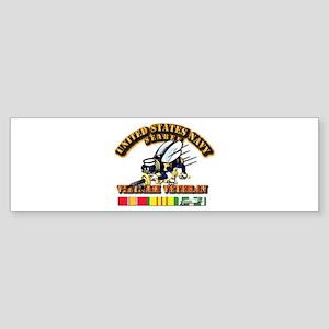 Navy - Seabee - Vietnam Vet Sticker (Bumper)