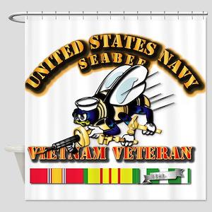 Navy - Seabee - Vietnam Vet Shower Curtain