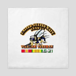 Navy - Seabee - Vietnam Vet Queen Duvet