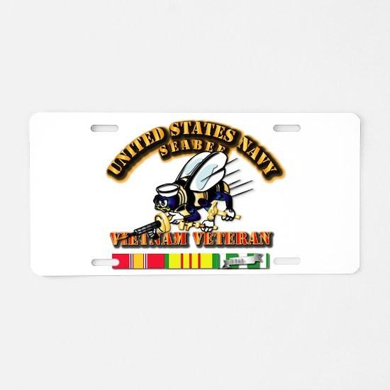 Navy - Seabee - Vietnam Vet Aluminum License Plate