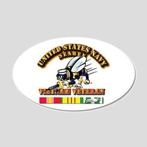 Navy - Seabee - Vietnam Vet 20x12 Oval Wall Decal