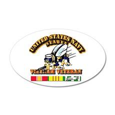 Navy - Seabee - Vietnam Vet Wall Sticker