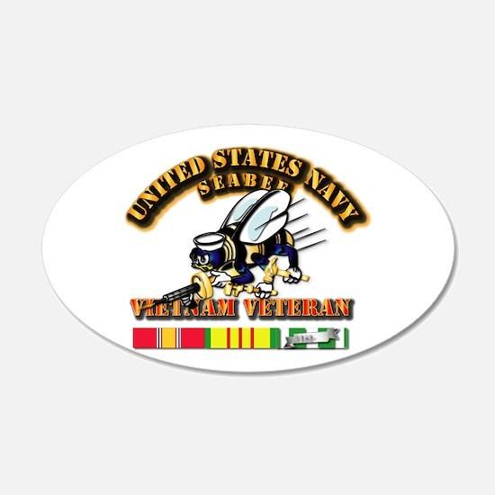 Navy - Seabee - Vietnam Vet Decal Wall Sticker