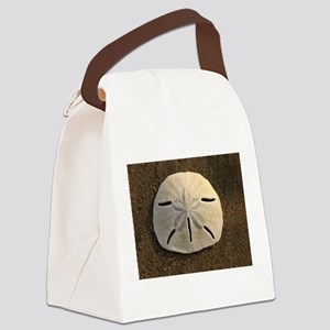 Sand Dollar Seashell Canvas Lunch Bag