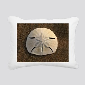 Sand Dollar Seashell Rectangular Canvas Pillow