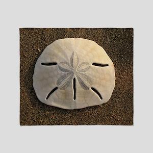 Sand Dollar Seashell Throw Blanket