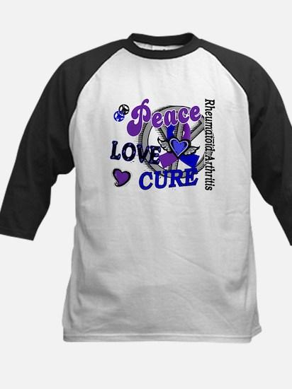 RA Peace Love Cure 2 Kids Baseball Jersey
