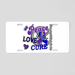 RA Peace Love Cure 2 Aluminum License Plate