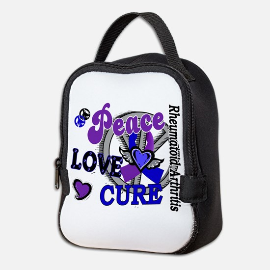 RA Peace Love Cure 2 Neoprene Lunch Bag