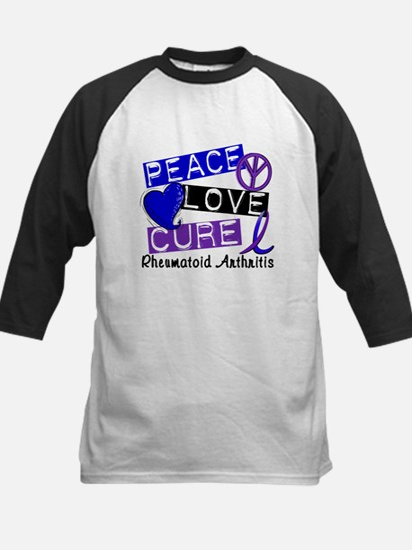 RA Peace Love Cure 1 Kids Baseball Jersey