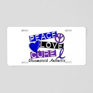 RA Peace Love Cure 1 Aluminum License Plate
