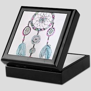 Watercolor Dreamcatcher Keepsake Box