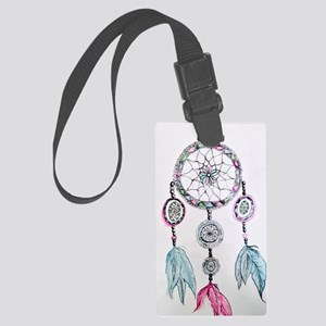 Watercolor Dreamcatcher Large Luggage Tag