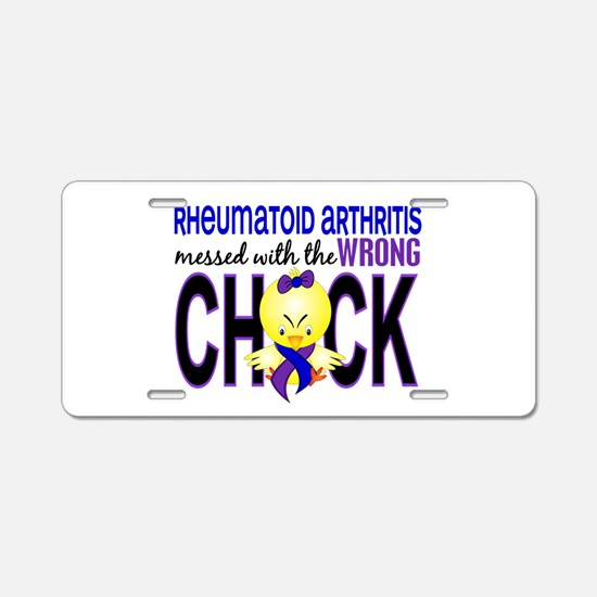 RA Wrong Chick 1 Aluminum License Plate