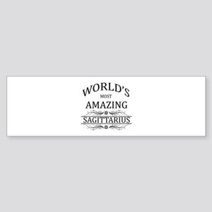 World's Most Amazing Sagittarius Sticker (Bumper)