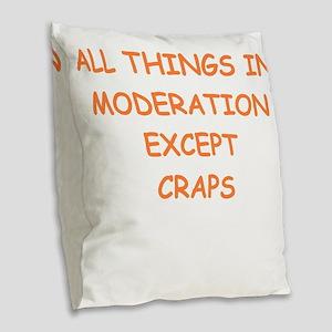craps Burlap Throw Pillow
