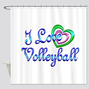 I Love Volleyball Shower Curtain