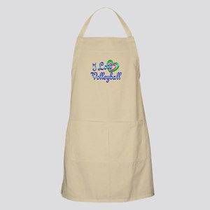 I Love Volleyball Apron