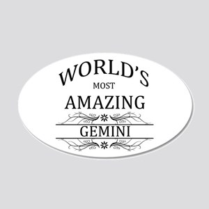 World's Most Amazing Gemini 20x12 Oval Wall Decal