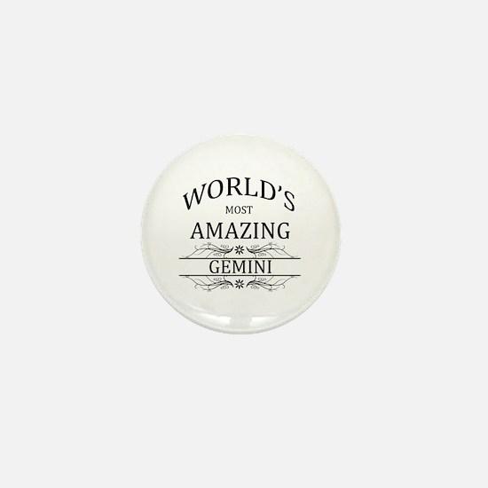 World's Most Amazing Gemini Mini Button
