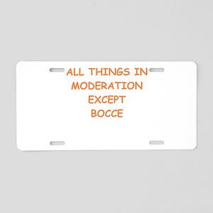 bocce Aluminum License Plate