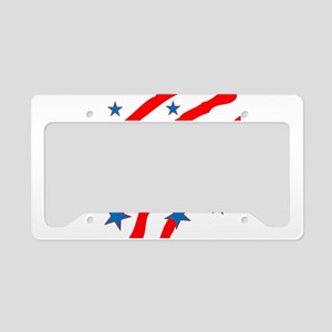Personalize name Stripes And Stars License Plate H