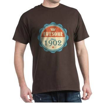 Awesome Since 1902 Dark T-Shirt