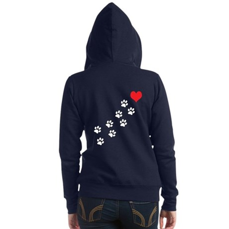 Paw Prints To My Heart Zip Hoodie