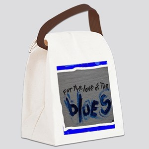 love of blues Canvas Lunch Bag