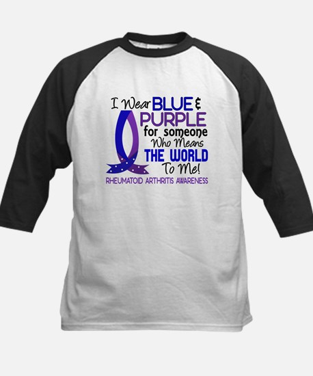 RA Means World to Me 1 Kids Baseball Jersey