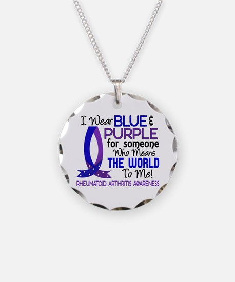 RA Means World to Me 1 Necklace Circle Charm