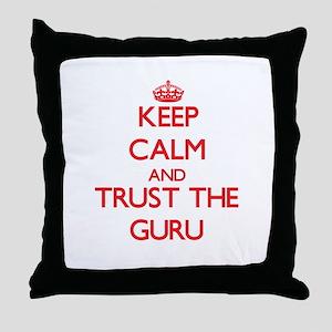 Keep Calm and Trust the Guru Throw Pillow