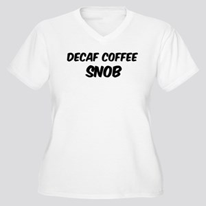 Decaf Coffee Women's Plus Size V-Neck T-Shirt