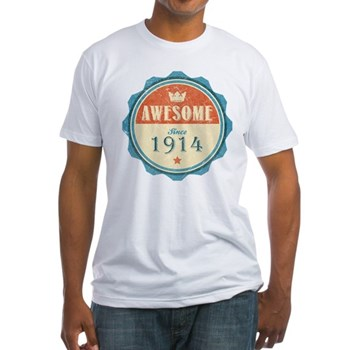 Awesome Since 1914 Fitted T-Shirt