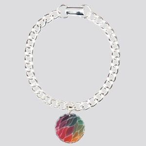 Multi Colored Waves Abstract Design Bracelet